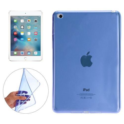 Transparent TPU cover with multicolor pattern for iPad Mini 4 Blue color