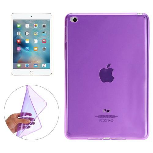 Transparent TPU cover with multicolor pattern for iPad Mini 4 Purple color