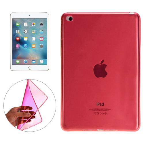 Transparent TPU cover with multicolor pattern for iPad Mini 4 Red color