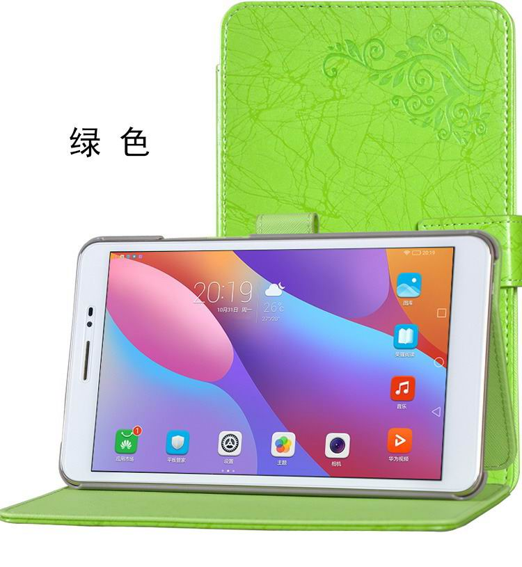honor pad 2 bright printing case green: