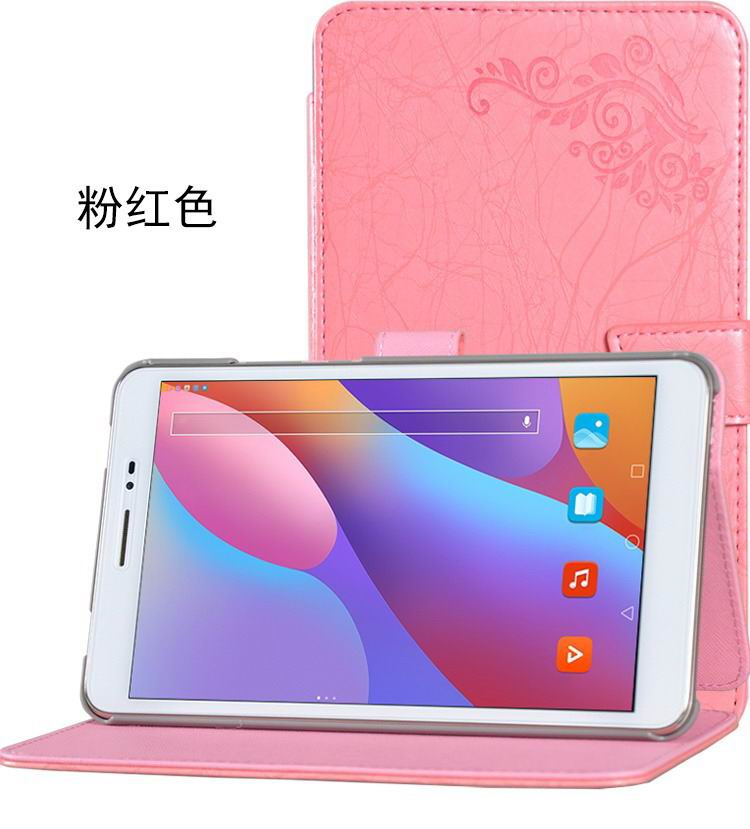 honor pad 2 bright printing case pink:
