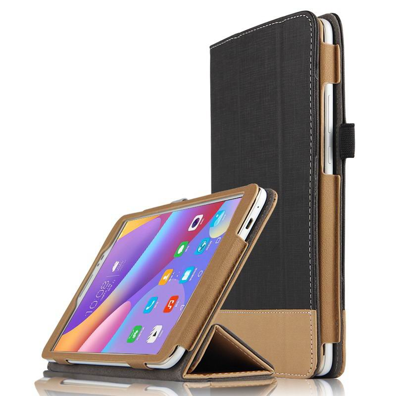 honor pad 2 business bicolour case with stand Texture black: