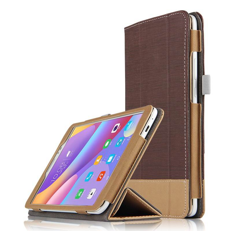 honor pad 2 business bicolour case with stand Coffee brown: