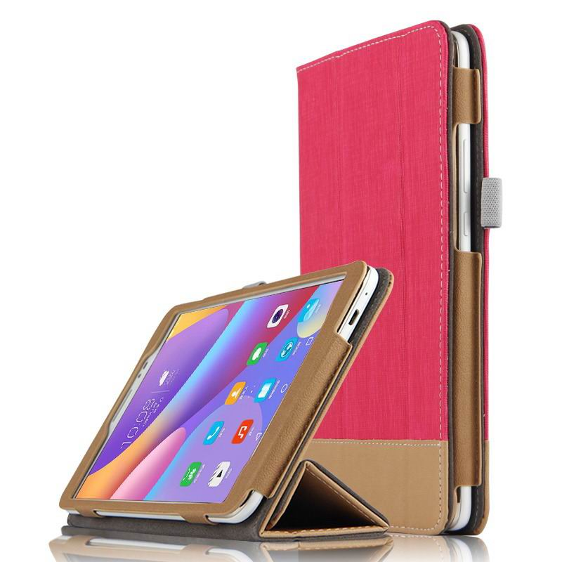 honor pad 2 business bicolour case with stand Rose pink: