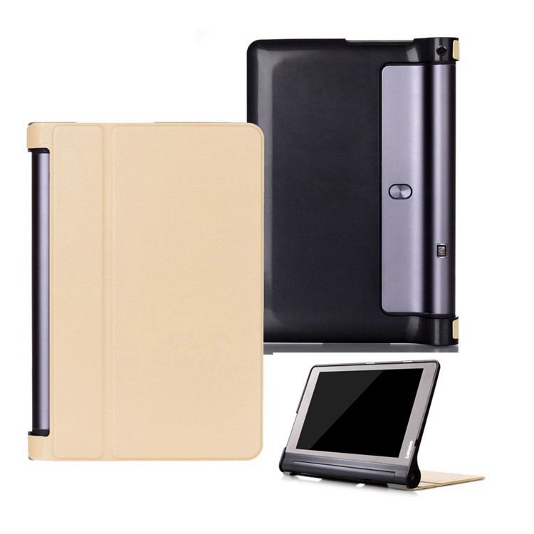 yoga tab 3 plus business case with stand multicolor frond and black back cover