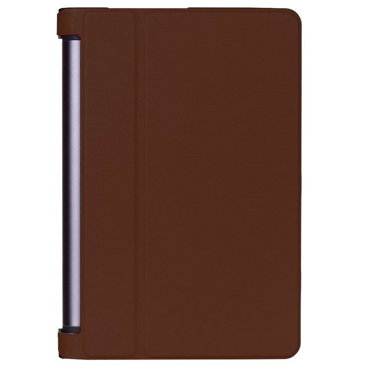 yoga tab 3 plus business case with stand multicolor frond and black back cover Brown: