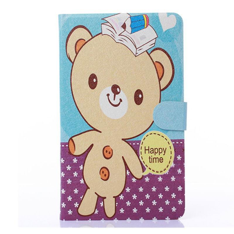 honor pad 2 case with cute animals and yellow housing little bear: