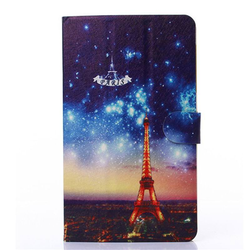 honor pad 2 case with cute animals and yellow housing Paris Tower: