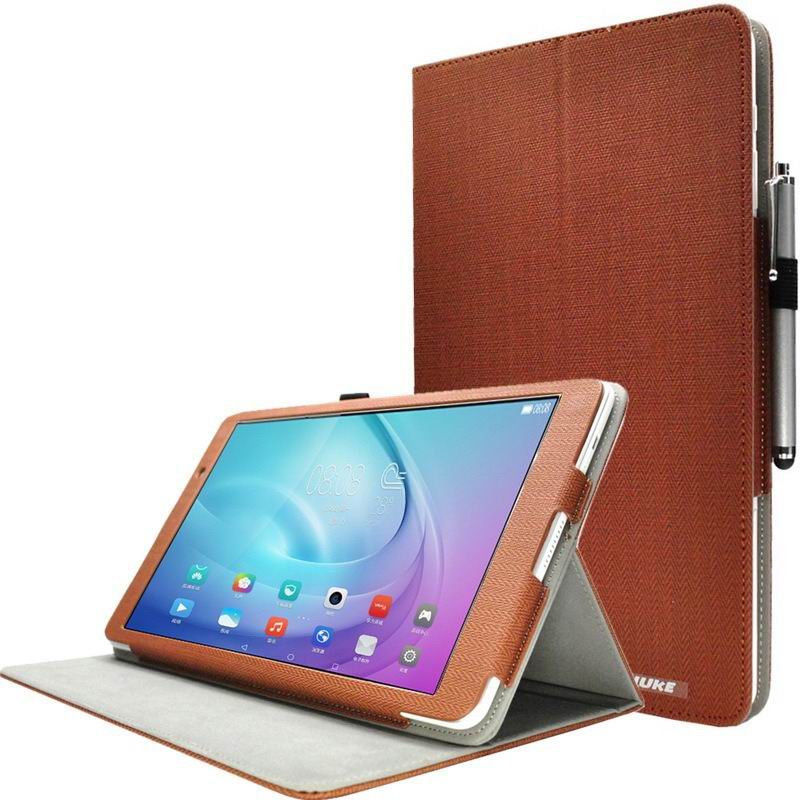 mediapad m2 10 huke business cases with string textile and ornament pattern Coffee brown: