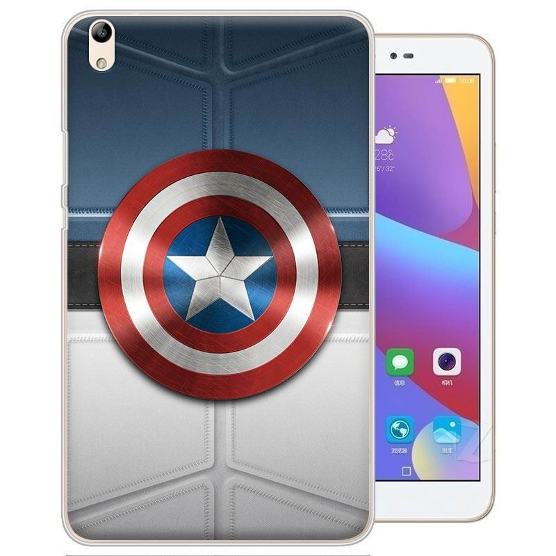 honor pad 2 painted cover with cartoon pictures of batman superman scull and other Captain America shield: