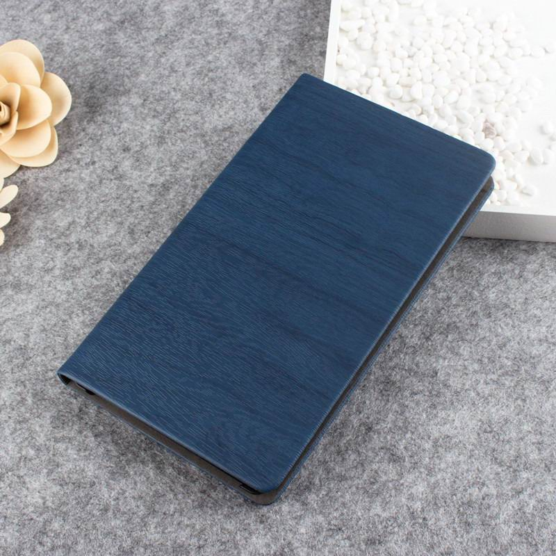 tab3 7 pearl case with wood pattern Navy blue: