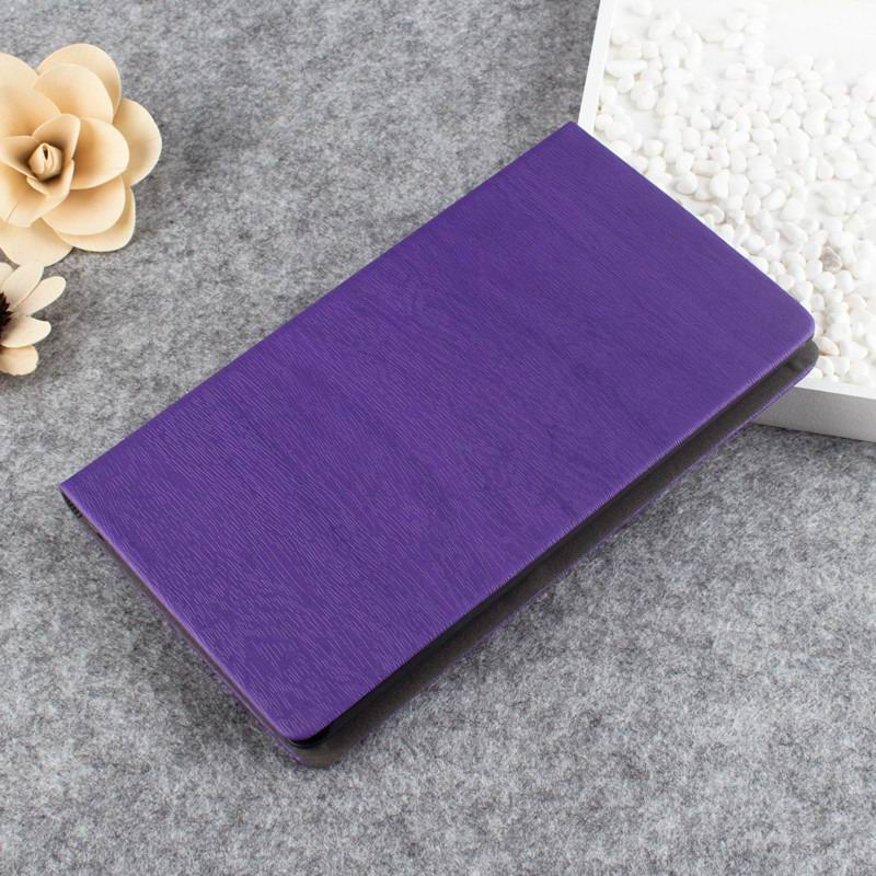 tab3 7 pearl case with wood pattern Purple: