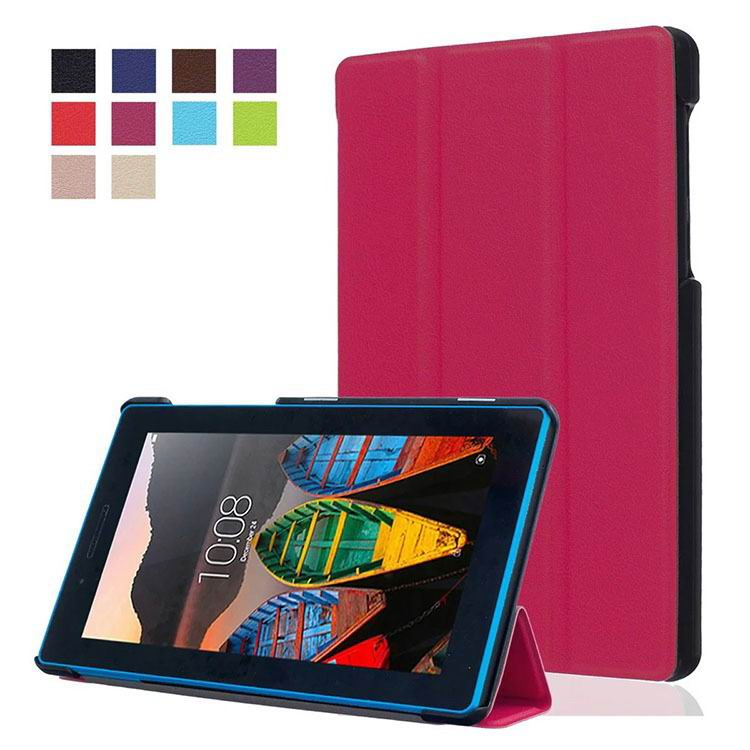 tab3 7 plain case with black frame 3 Rose red:
