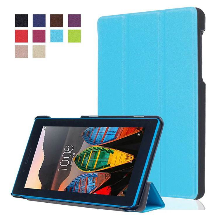 tab3 7 plain case with black frame 3 Sky blue: