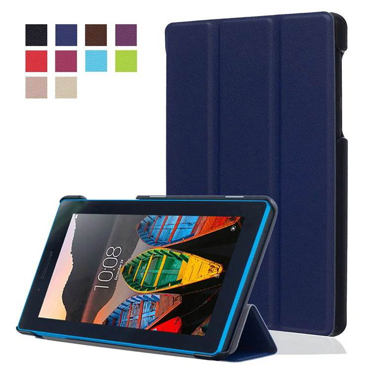 tab3 7 plain case with black frame 3 Dark blue: