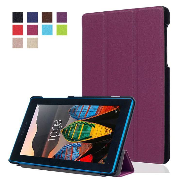 tab3 7 plain case with black frame 3 Purple:
