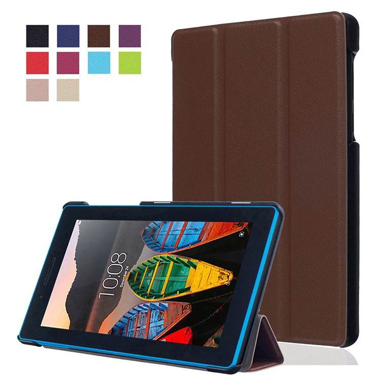 tab3 7 plain case with black frame 3 Brown: