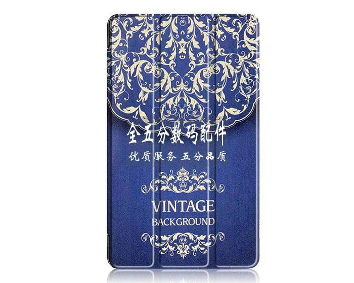 honor pad 2 plain case with black frame or case with a picture of tree paris and other European style flower vine: