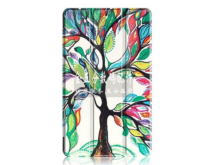 honor pad 2 plain case with black frame or case with a picture of tree paris and other Happy tree: