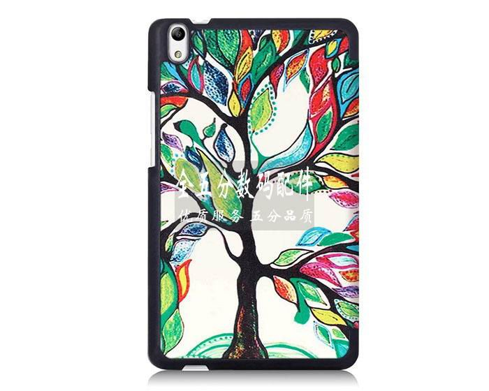 honor pad 2 plain case with black frame or case with a picture of tree paris and other