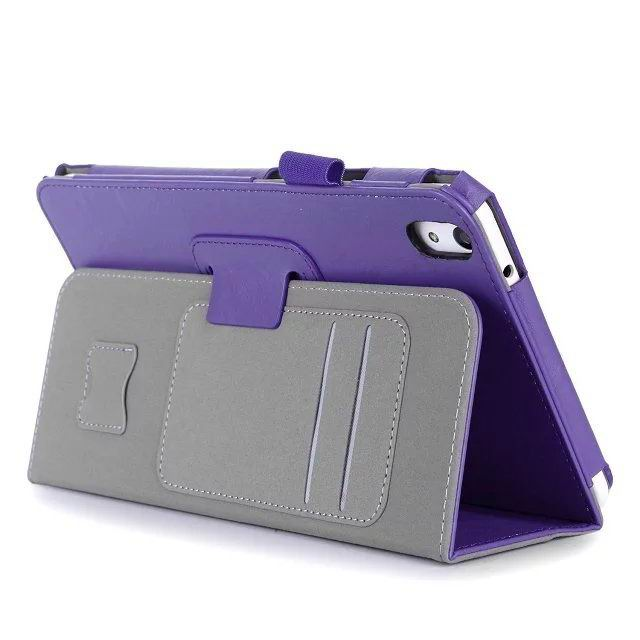 honor pad 2 plain case with card sections and handle Purple: