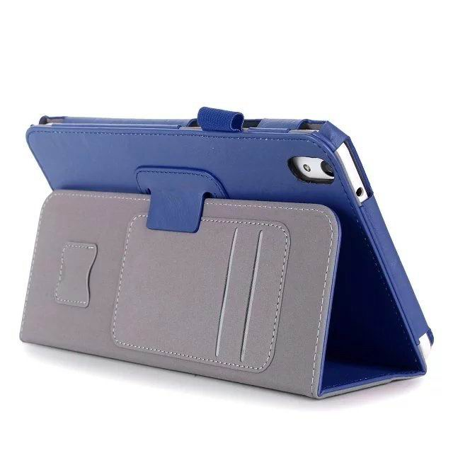 honor pad 2 plain case with card sections and handle Blue:
