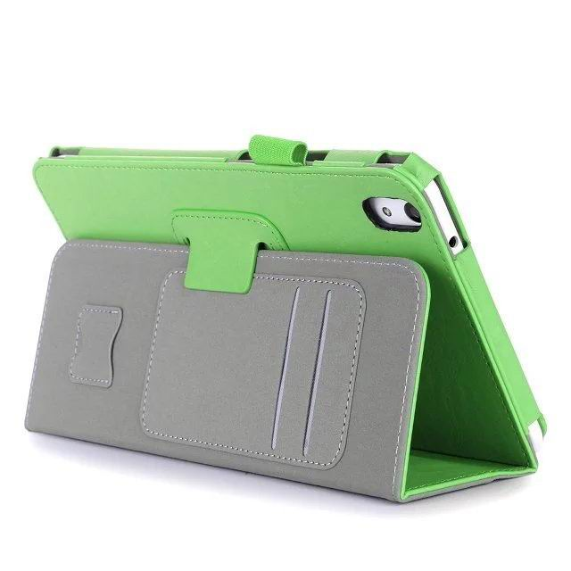 honor pad 2 plain case with card sections and handle Green: