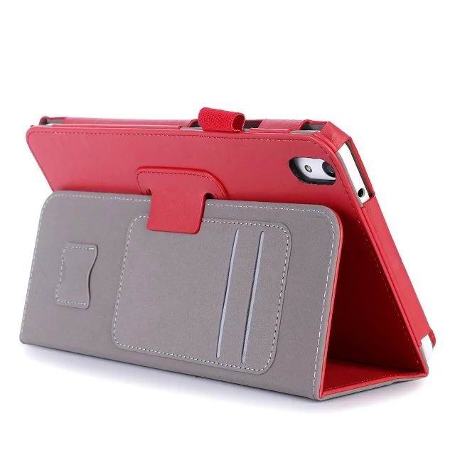 honor pad 2 plain case with card sections and handle Red: