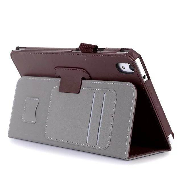 honor pad 2 plain case with card sections and handle Dark Brown:
