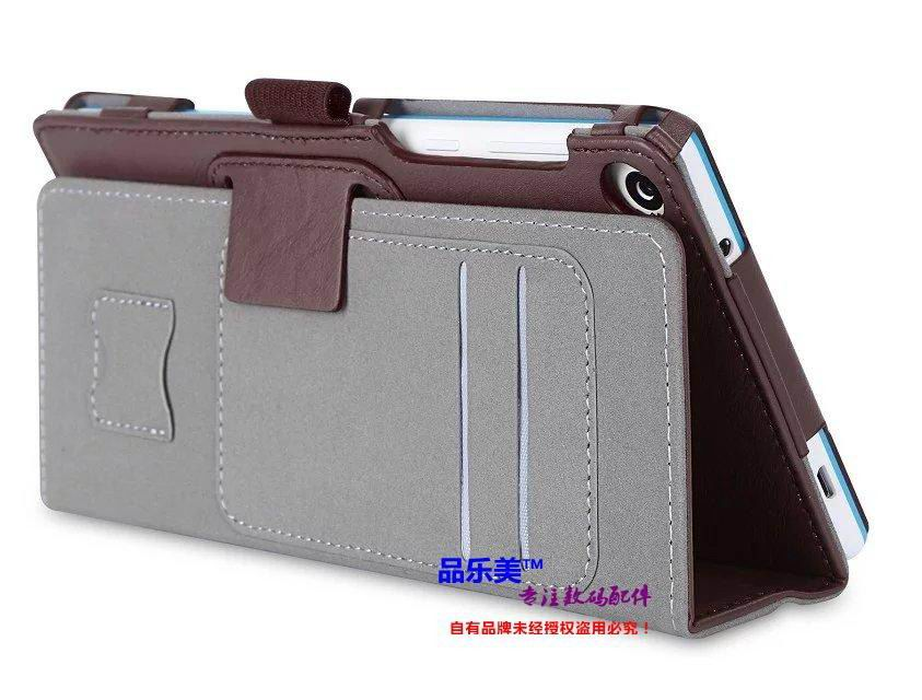 tab3 7 plain case with handle and card slots brown:
