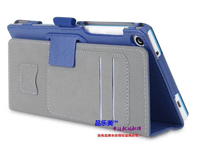 tab3 7 plain case with handle and card slots blue: