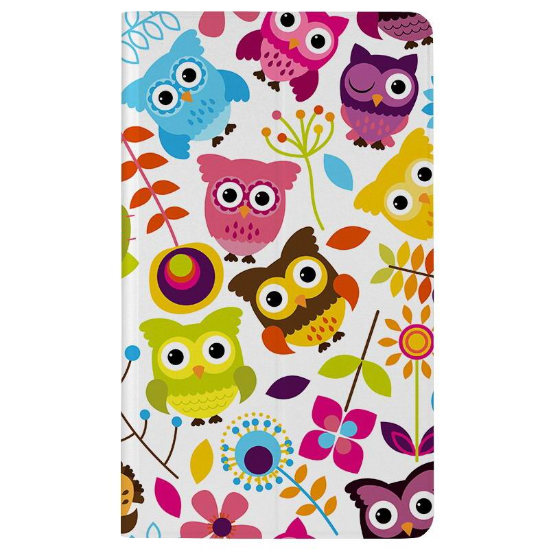 honor pad 2 romantic painted case with cute pictures of moon owl zebra