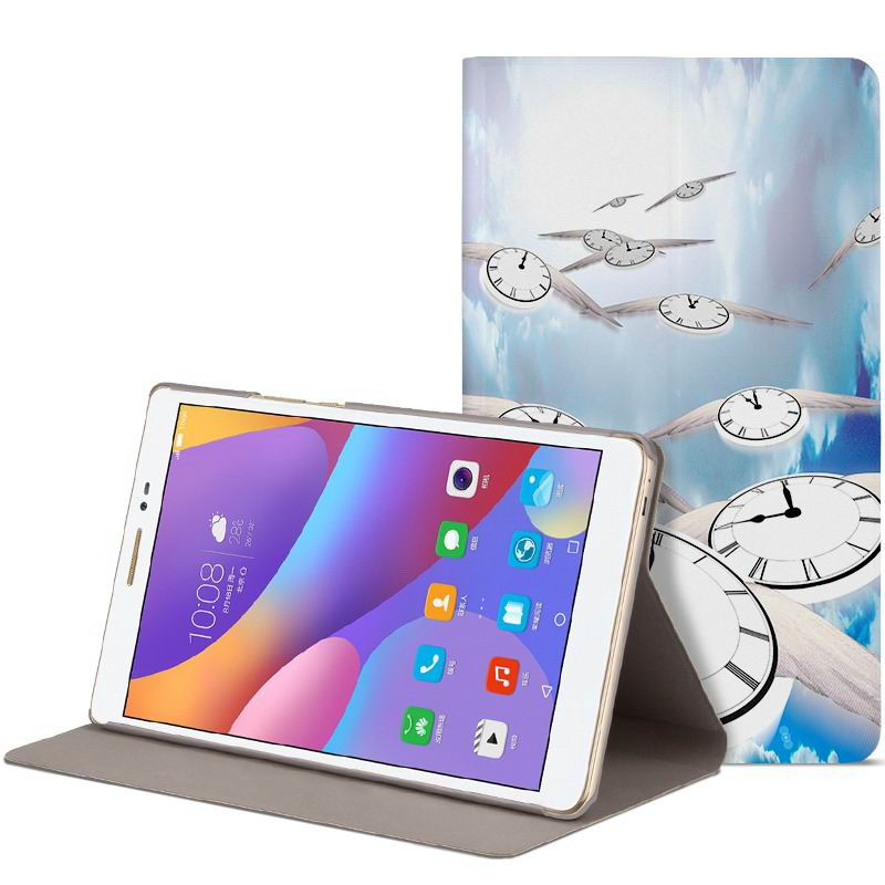 honor pad 2 romantic painted case with cute pictures of moon owl zebra Fly the skies of the time of elves: