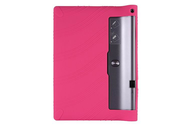 yoga tab 3 plus silicone multicolor cover Rose red: