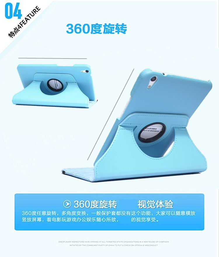 honor pad 2 solid color case with rotating stand and shell