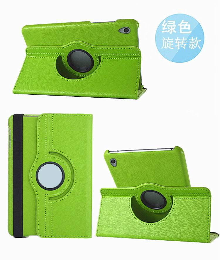 honor pad 2 solid color case with rotating stand and shell green: