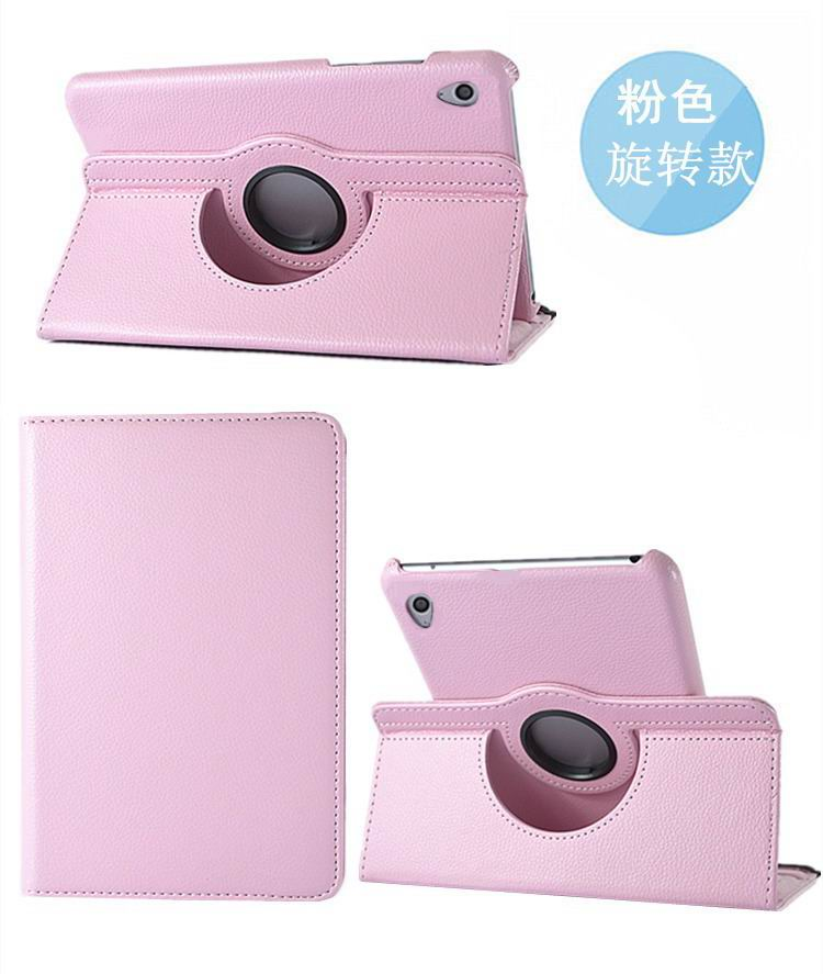 honor pad 2 solid color case with rotating stand and shell pink: