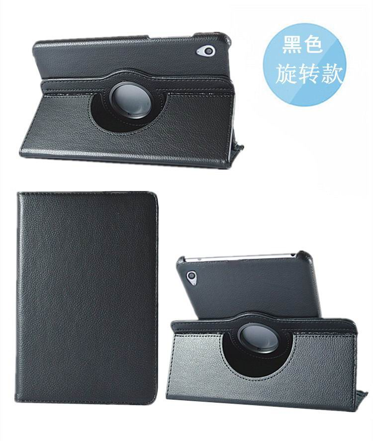 honor pad 2 solid color case with rotating stand and shell black: