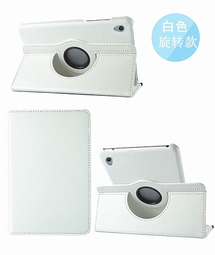 honor pad 2 solid color case with rotating stand and shell white: