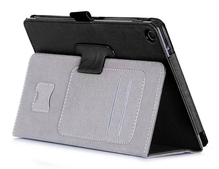 zenpad 3 80 z581kl business case with 2 stand deep cover hand loop and card pockets Black:
