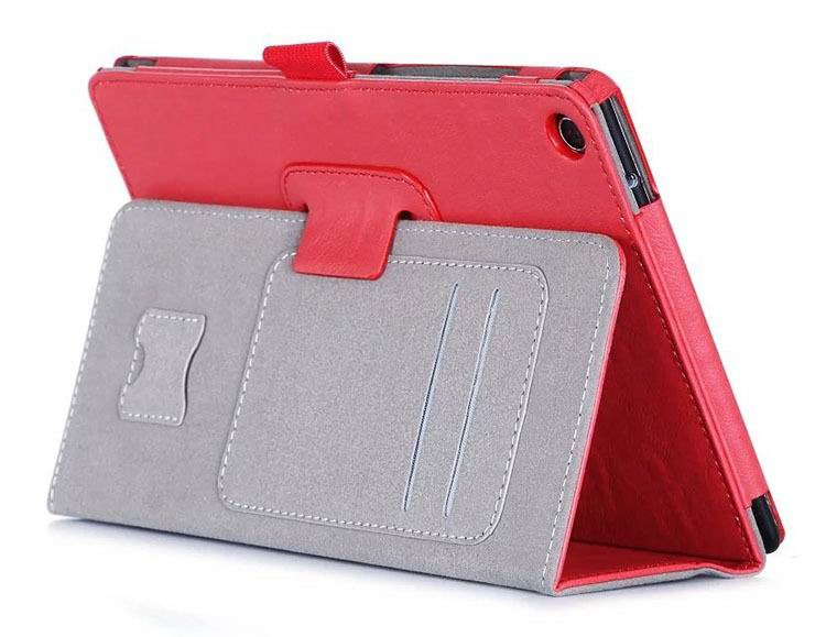 zenpad 3 80 z581kl business case with 2 stand deep cover hand loop and card pockets Red: