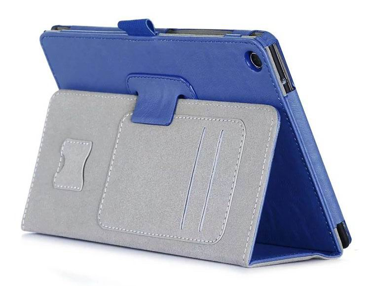 zenpad 3 80 z581kl business case with 2 stand deep cover hand loop and card pockets Blue: