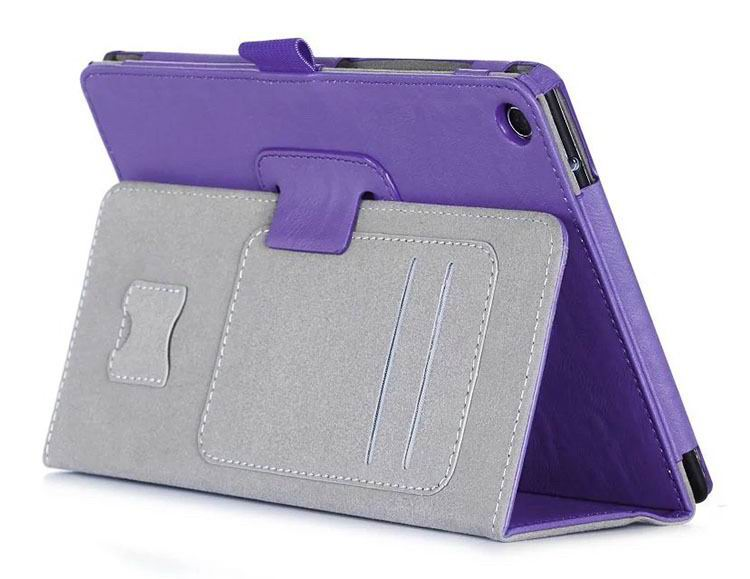 zenpad 3 80 z581kl business case with 2 stand deep cover hand loop and card pockets Purple: