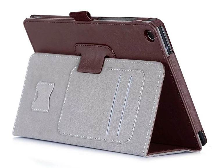 zenpad 3 80 z581kl business case with 2 stand deep cover hand loop and card pockets Brown: