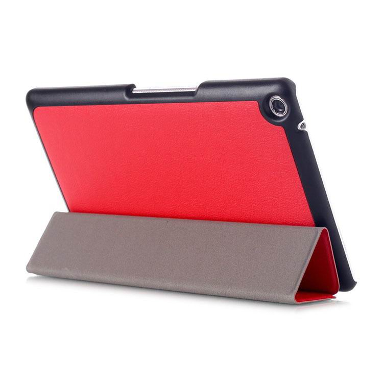 zenpad 3 80 z581kl business case with 3 stand and multicolor pattern Red: