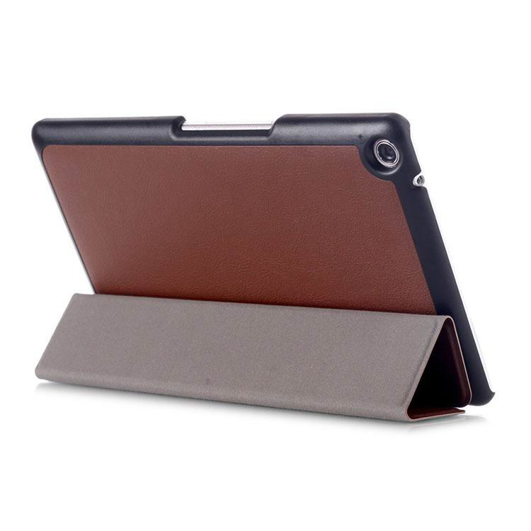 zenpad 3 80 z581kl business case with 3 stand and multicolor pattern Brown: