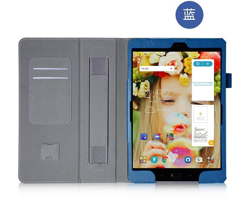 zenpad 3s 10 z500m business case with multicolor pattern wrist loop card holders and two stand