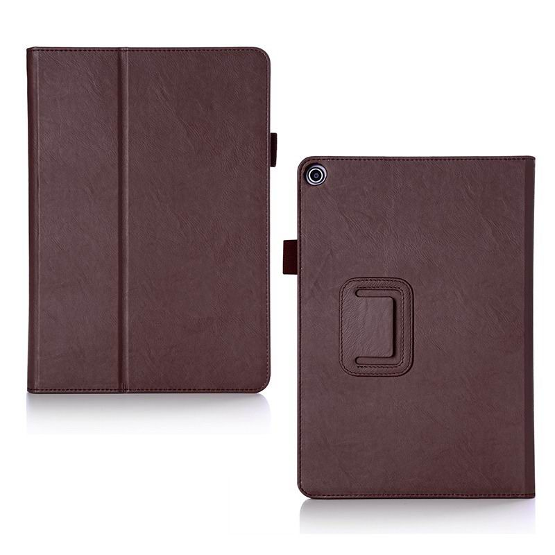 zenpad 3s 10 z500m business case with multicolor pattern wrist loop card holders and two stand Brown: