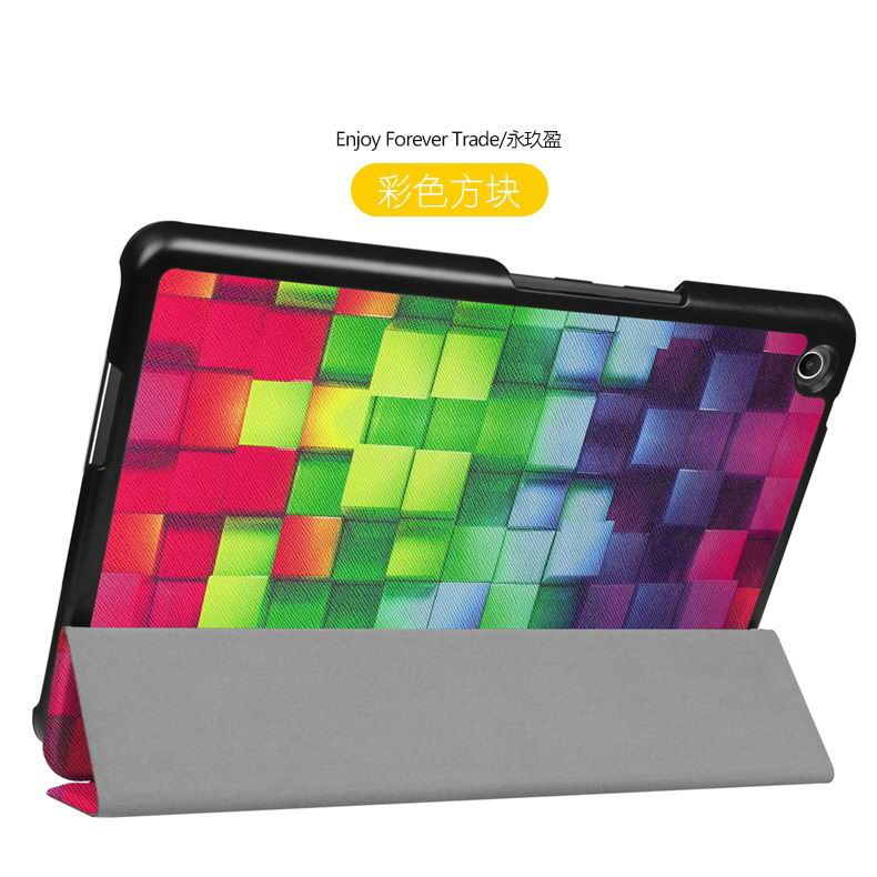 zenpad 3 80 z581kl case with different style patterns and 3 stand Color block: