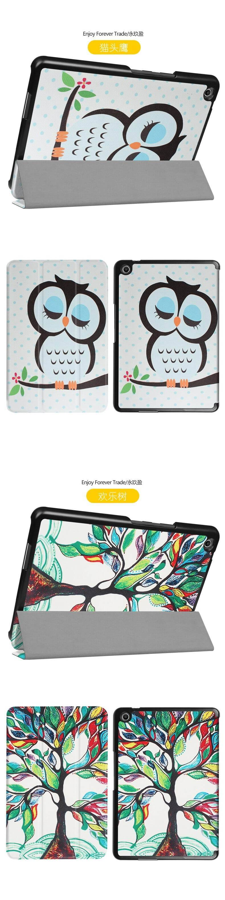 zenpad 3 80 z581kl case with different style patterns and 3 stand